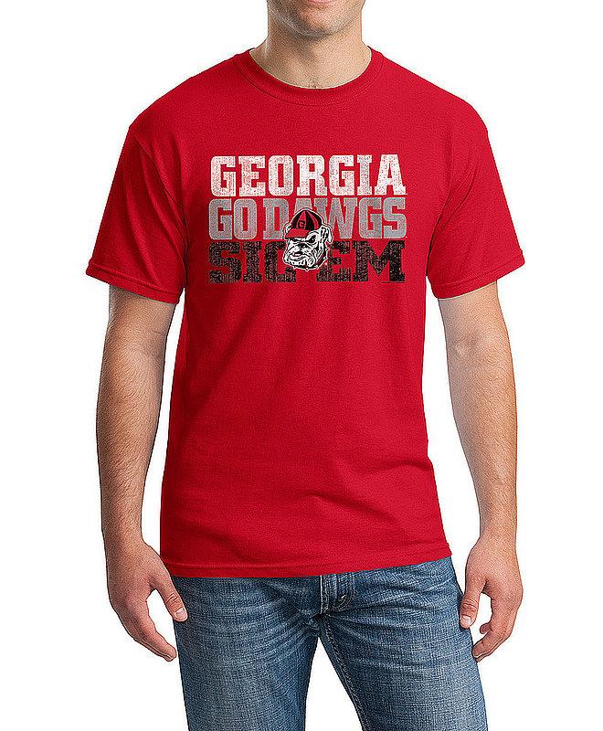Elite Fan Shop Georgia Bulldogs TShirt Arch Red P0005488 / APC03317244