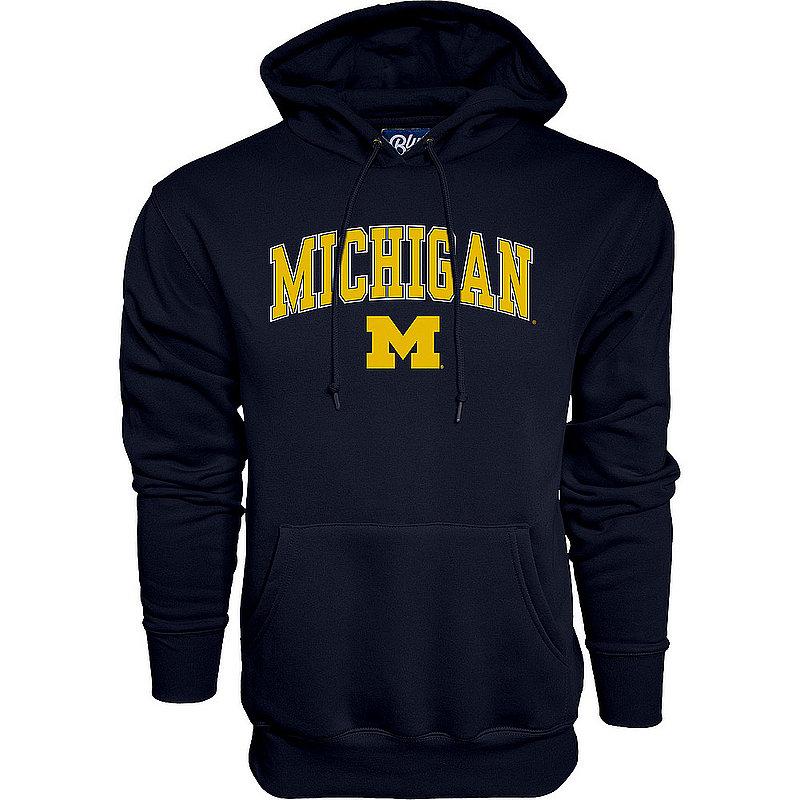 Elite Fan Shop Michigan Wolverines Hoodie Sweatshirt Varsity Navy APC02827796 (Elite Fan Shop)