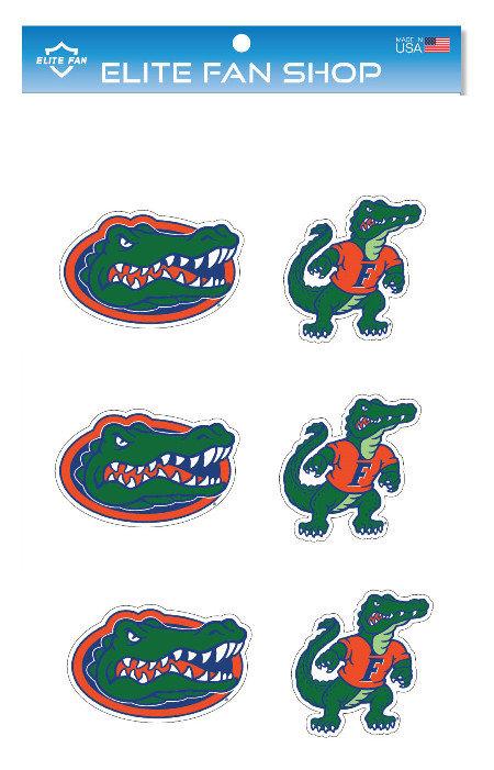 "Florida Gators 3"" Vinyl Decal 6-Pack"