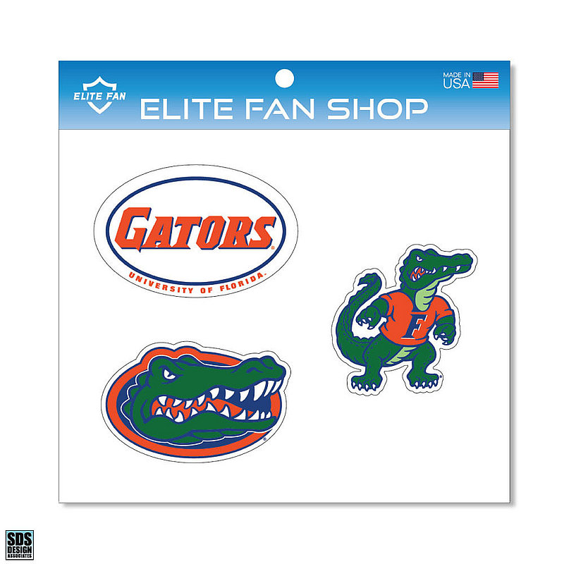 "Florida Gators 6"" Vinyl Decal 3-Pack DFL01"