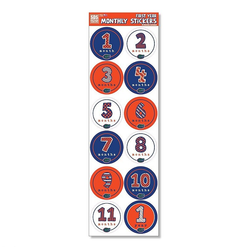 Florida Gators Baby's First Year Monthly Stickers