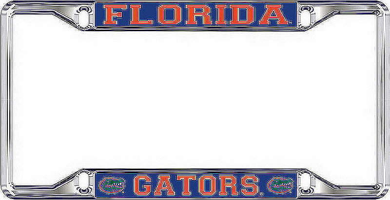 Florida Gators License Plate Frame Silver 07393