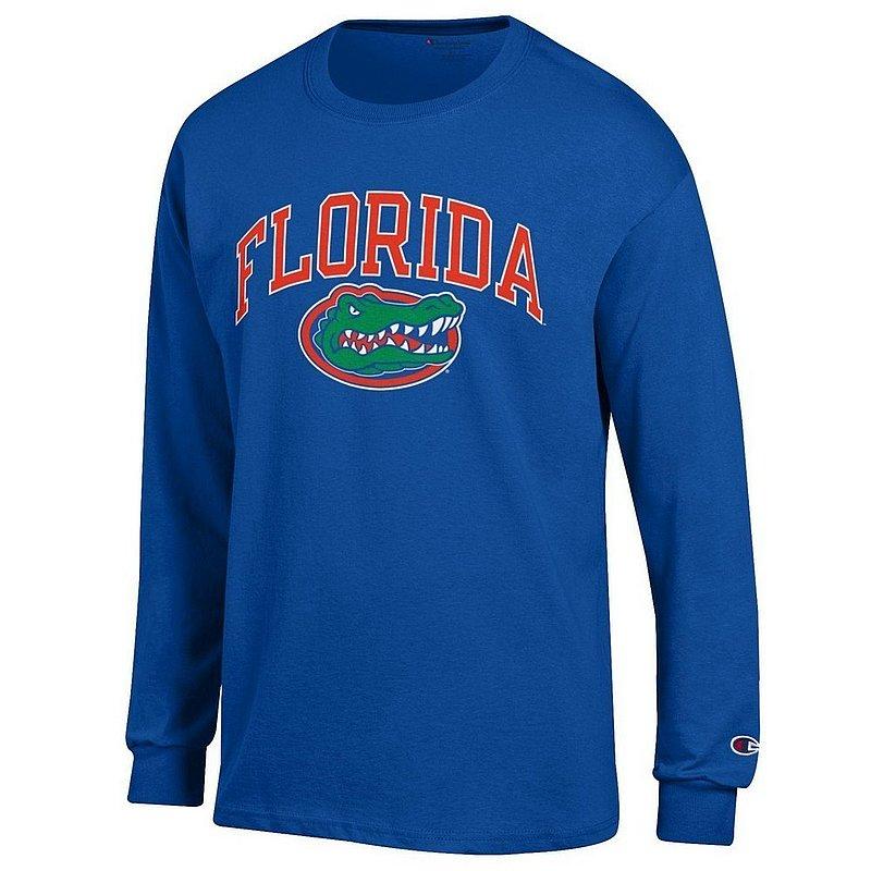 Florida Gators Long Sleeve Tshirt Arch Royal Arch Over APC02857107*