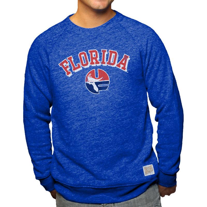 Florida Gators Retro TriBlend Crewneck Sweatshirt Blue