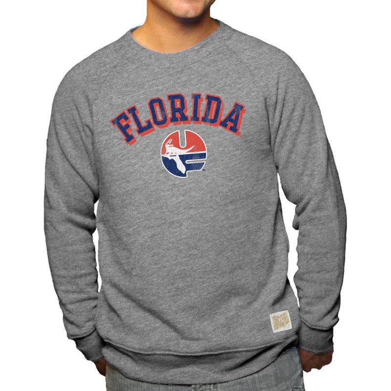 Florida Gators Retro TriBlend Crewneck Sweatshirt Gray
