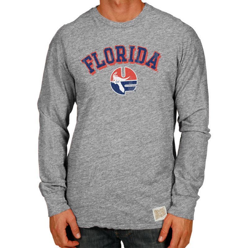 Florida Gators Retro TriBlend Long Sleeve Tshirt Gray
