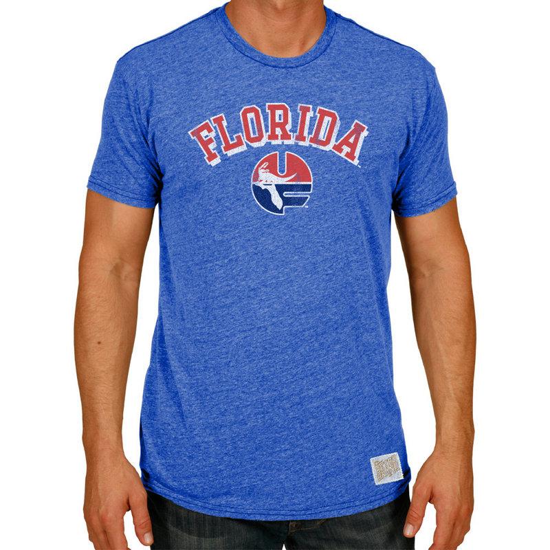 Florida Gators Retro TriBlend Tshirt Blue