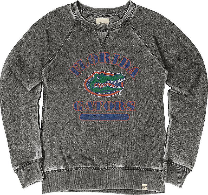 Florida Gators Womens Burnout Crewneck Sweatshirt Vintage S7FZ_JBWFC_CHARCOAL