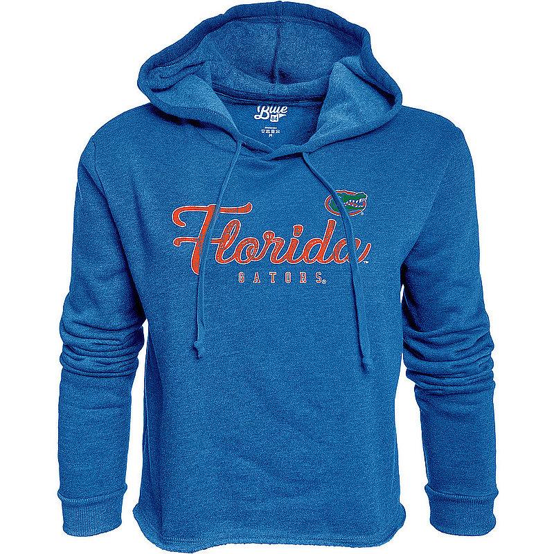 Florida Gators Womens Crop Hoodie Sweatshirt Vintage S7F6_JCCF_ROYAL
