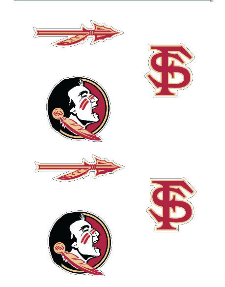 "Florida State Seminoles 3"" Vinyl Decal 6-Pack"