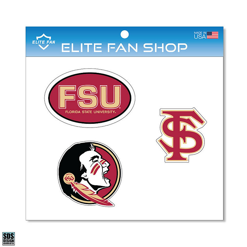 "Florida State Seminoles 6"" Vinyl Decal 3-Pack DFSU01"