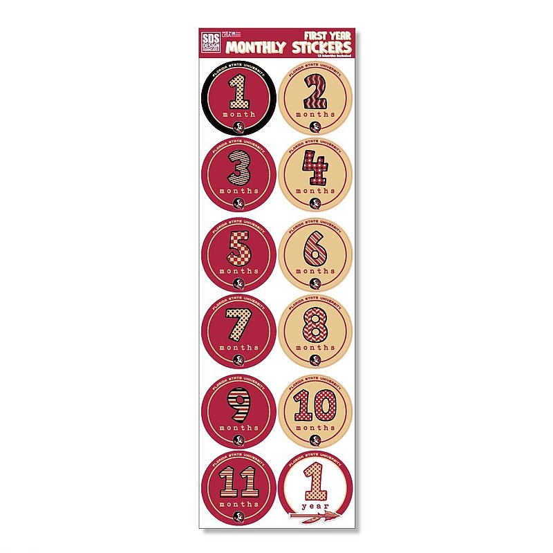 Florida State Seminoles Baby's First Year Monthly Stickers