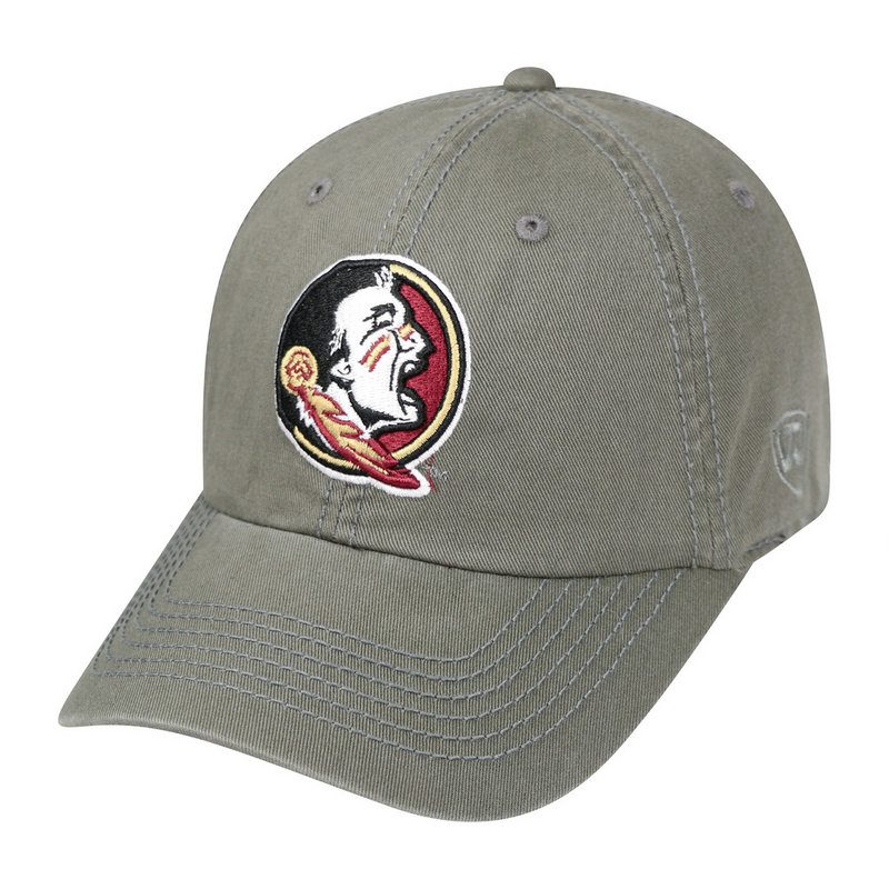 Florida State Seminoles Hat Icon Charcoal CREW-FLST-ADJ-CHR