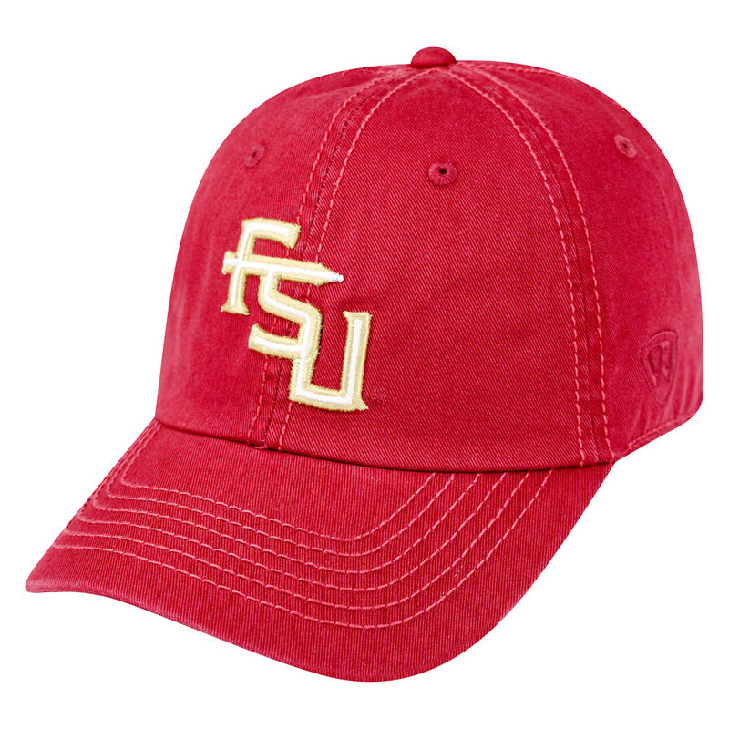 Florida State Seminoles Hat Interlock Garnet CREW-FLST-ADJ-TMC3