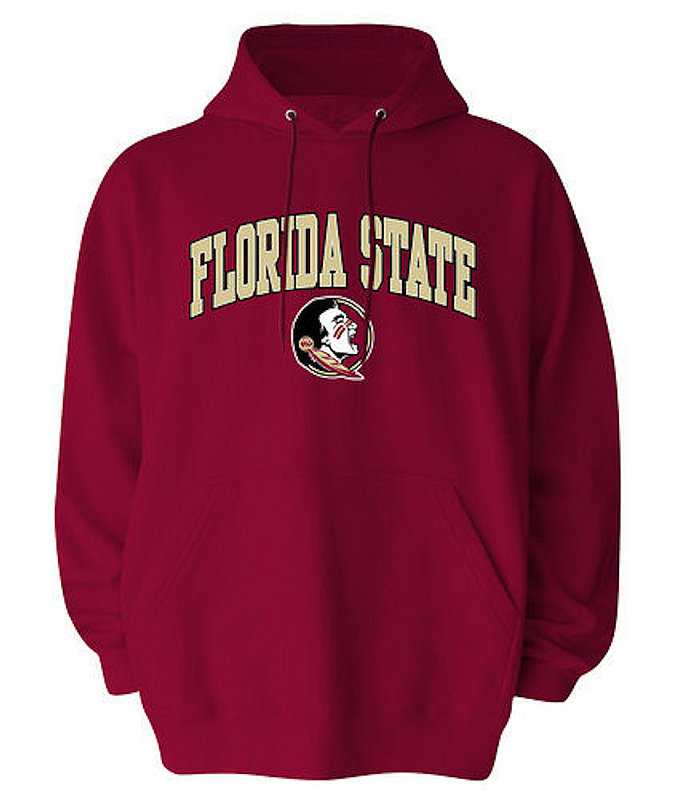 Florida State Seminoles Hooded Sweatshirt Arch Over Plus Size Garnet
