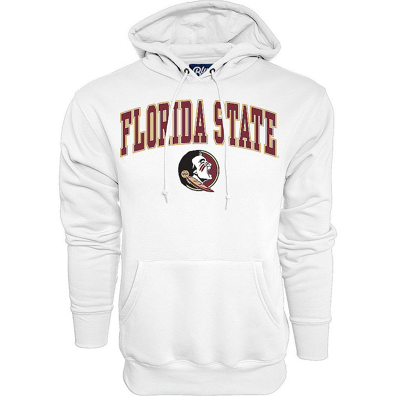 Florida State Seminoles Hooded Sweatshirt Varsity White Arch Over 00000000BCRDK