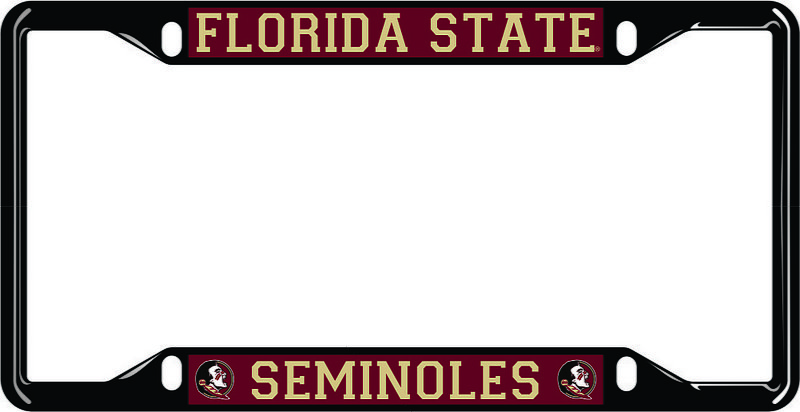 Florida State Seminoles License Plate Frame Black
