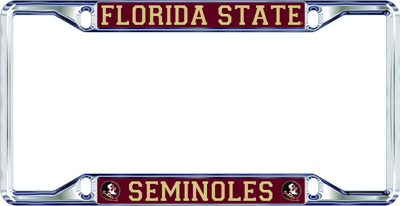 Florida State Seminoles License Plate Frame Silver 17319