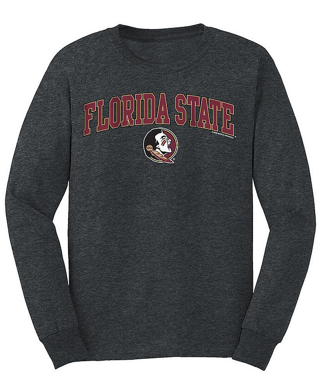 Florida State Seminoles Long Sleeve Tshirt Arch Over Plus Size Charcoal