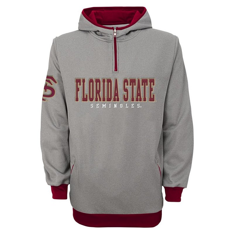 Florida State Seminoles Quarter Zip Hooded Track Jacket 803SY