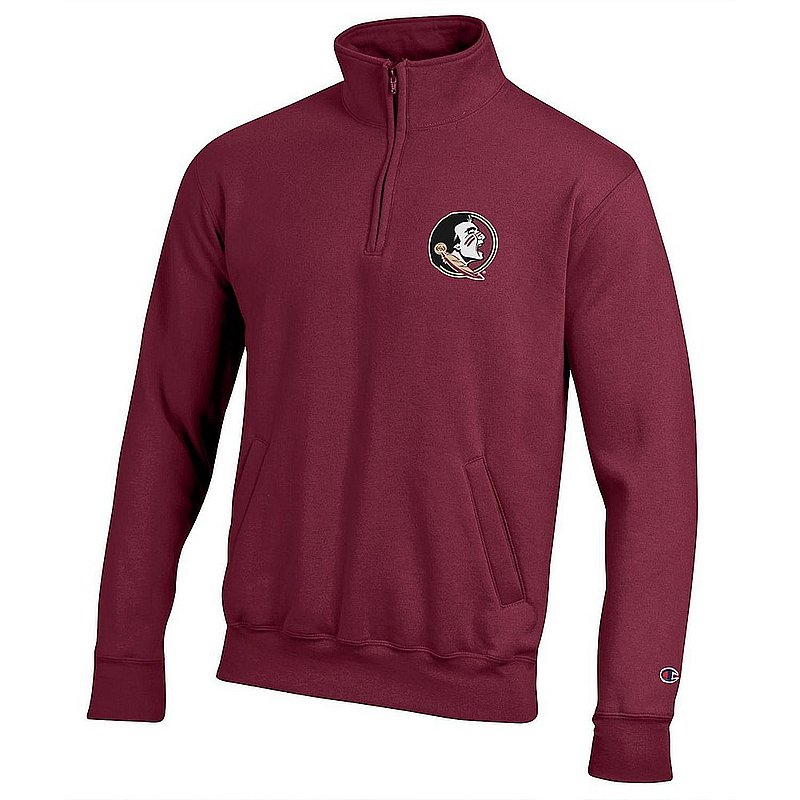 Florida State Seminoles Quarter Zip Sweatshirt Captain Garnet
