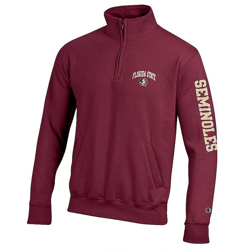 Florida State Seminoles Quarter Zip Sweatshirt Letterman Garnet APC02990748/APC02990749