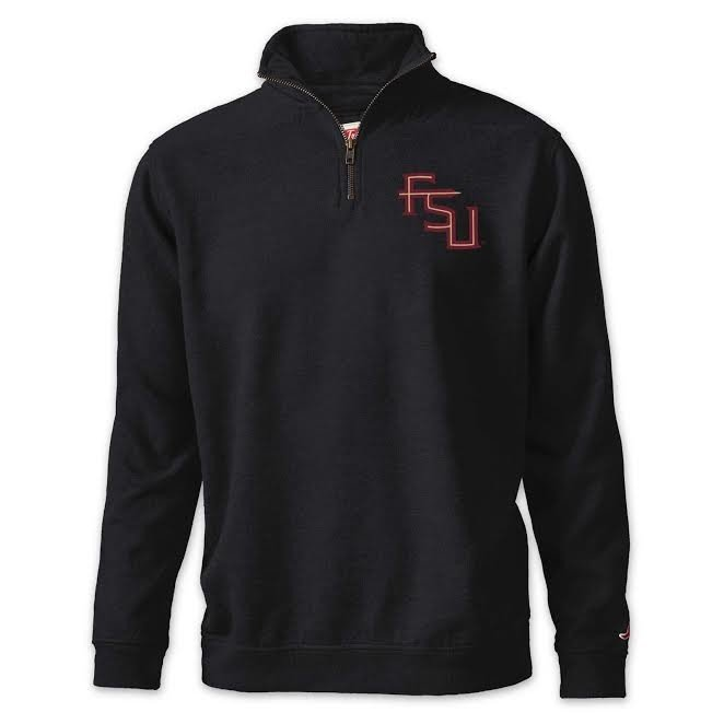 Florida State Seminoles Quarter Zip Sweatshirt Slate