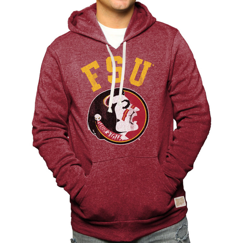 Florida State Seminoles Retro Hooded Sweatshirt Garnet RB6090