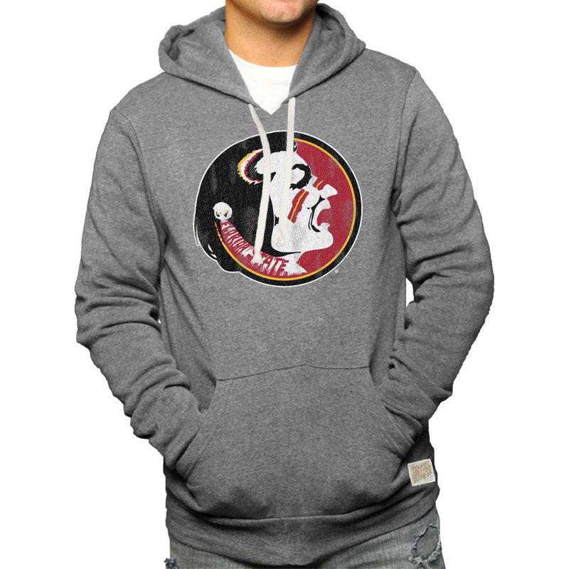 Florida State Seminoles Retro Hooded Sweatshirt Gray CFSU030A
