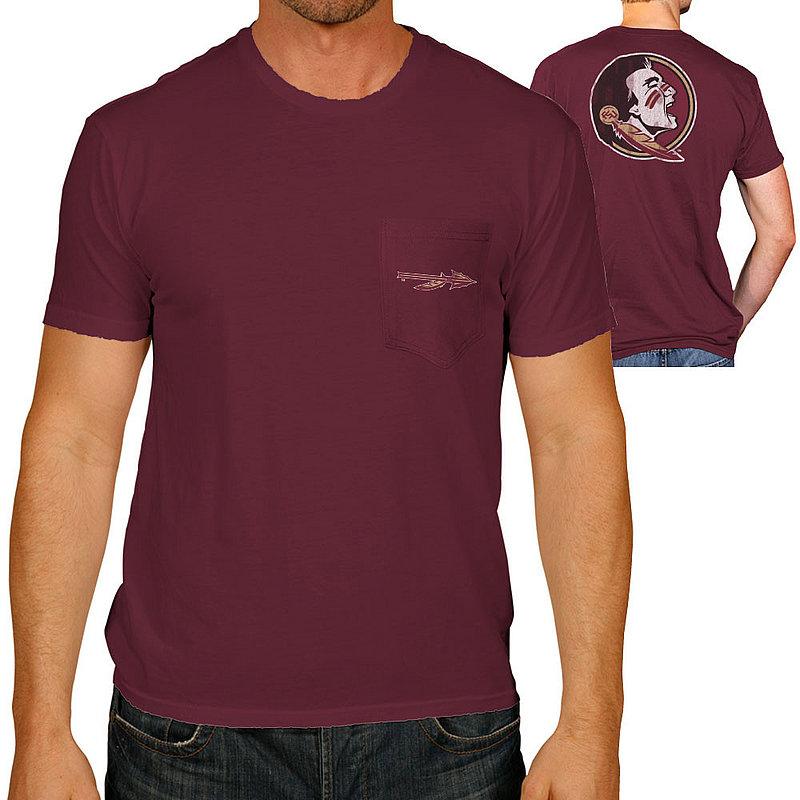 Florida State Seminoles Retro Pocket TShirt Garnet RB128