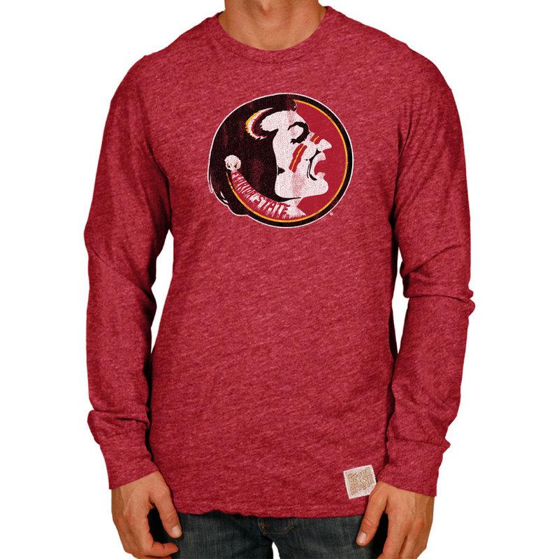 Florida State Seminoles Retro TriBlend Long Sleeve Tshirt Red CFSU030A_SGA