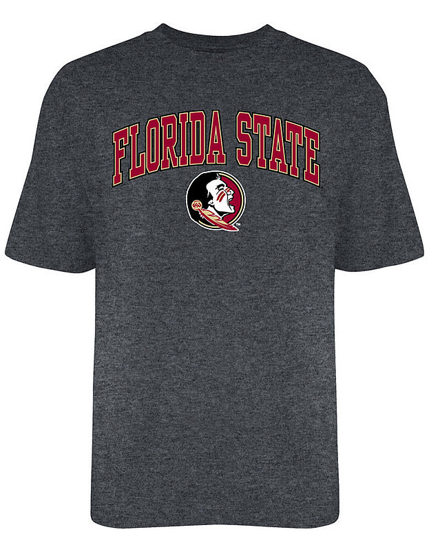 Florida State Seminoles Tshirt Arch Over Plus Size Charcoal
