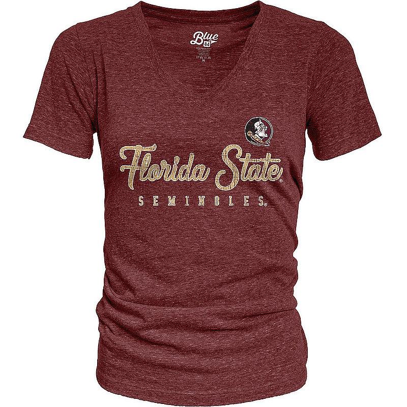 Florida State Seminoles Womens TriBlend TShirt Vintage S7FD_JTRV_MARO