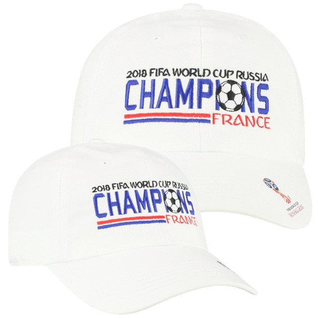 France 2018 World Cup Champions Hat White CRW11-FFFR-ADJ-WHT