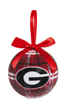 Georgia Bulldogs 100mm LED Ball Ornament