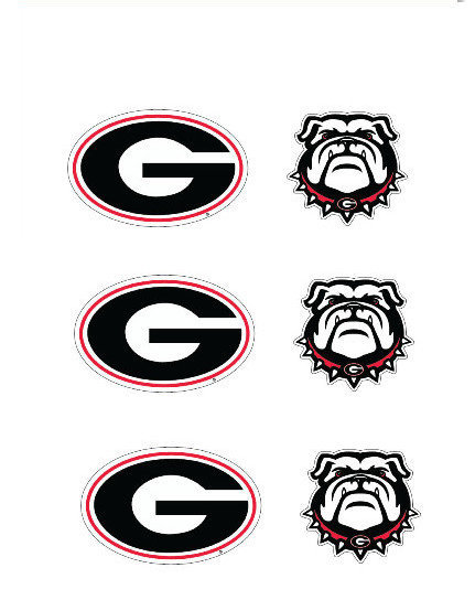 "Georgia Bulldogs 3"" Vinyl Decal 6-Pack"