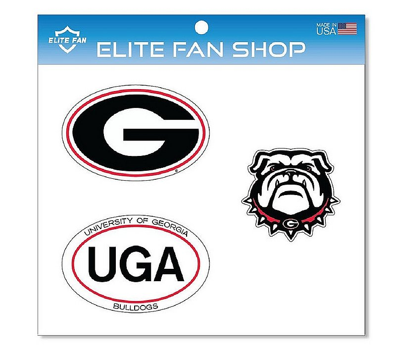 "Georgia Bulldogs 6"" Vinyl Decal 3-Pack DGA01"
