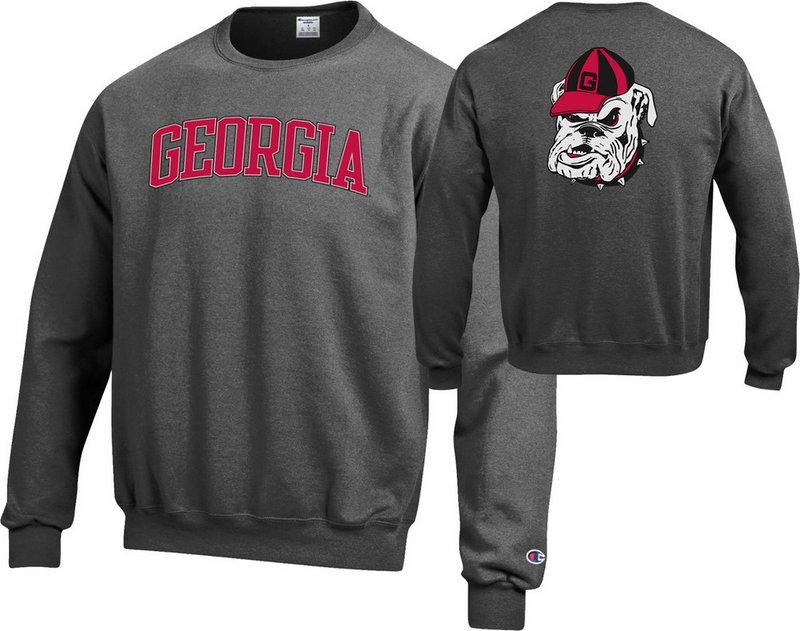 Georgia Bulldogs Crewneck Sweatshirt Charcoal APC03010080/APC03023894