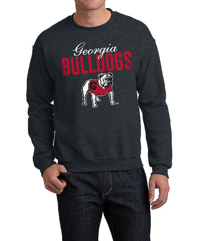 Georgia Bulldogs Crewneck Sweatshirt Varsity Charcoal Dawgs APC02966870