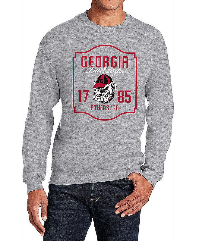 Georgia Bulldogs Crewneck Sweatshirt Varsity Gray APC02982436