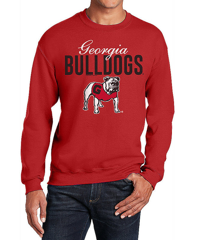 Georgia Bulldogs Crewneck Sweatshirt Varsity Red Dawgs APC02960976