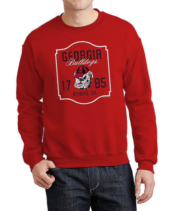 Georgia Bulldogs Crewneck Sweatshirt Varsity Team Red APC02982435