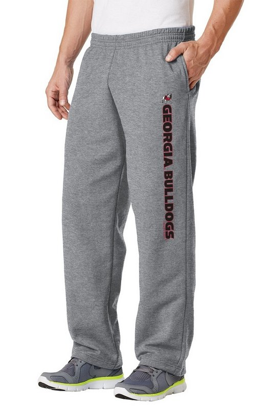 Georgia Bulldogs Fleece Pants Captain Gray GEO38662