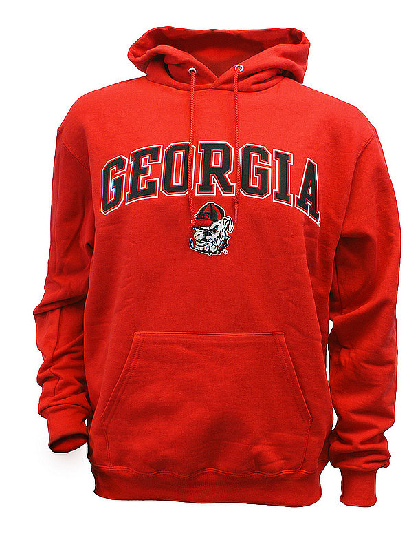 Georgia Bulldogs Hooded Sweatshirt Captain Red AEC03197262