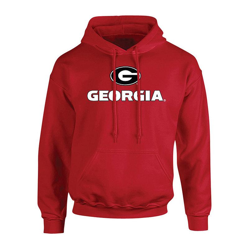 Georgia Bulldogs Hooded Sweatshirt Plus Size Red