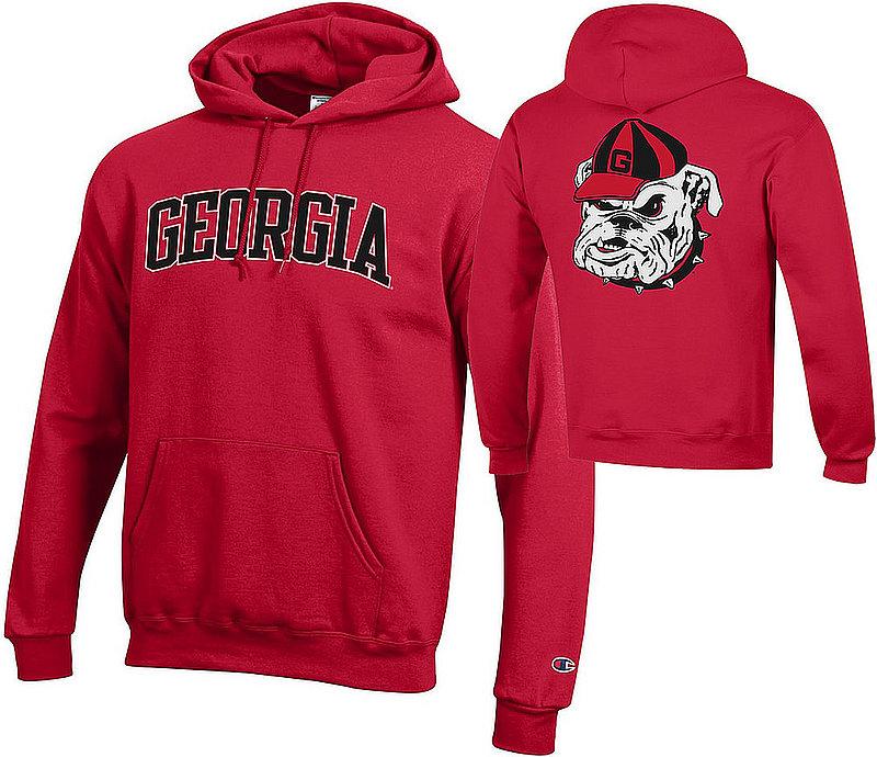 Georgia Bulldogs Hooded Sweatshirt Red Back