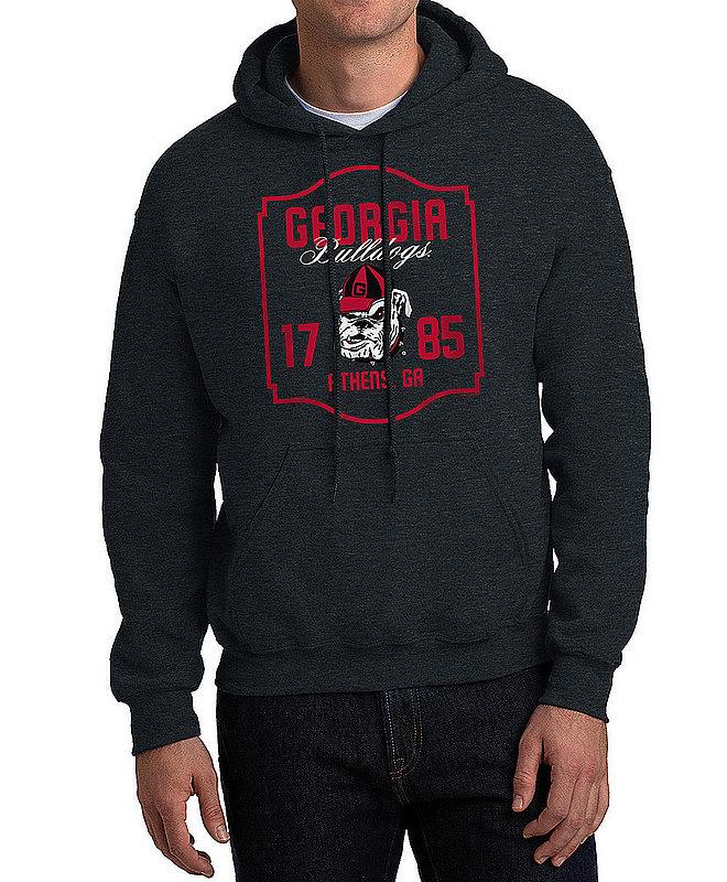 Georgia Bulldogs Hooded Sweatshirt Varsity Charcoal Team APC02982436
