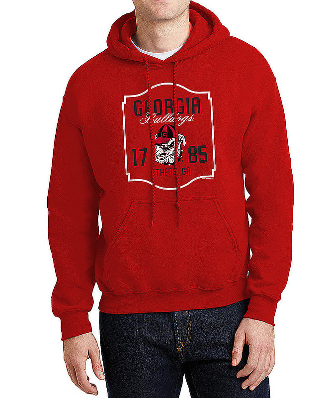 Georgia Bulldogs Hooded Sweatshirt Varsity Red Team APC02982435