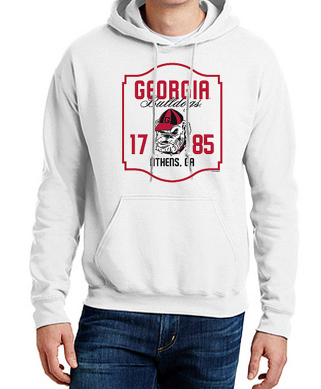 Georgia Bulldogs Hooded Sweatshirt Varsity White Team APC03006376