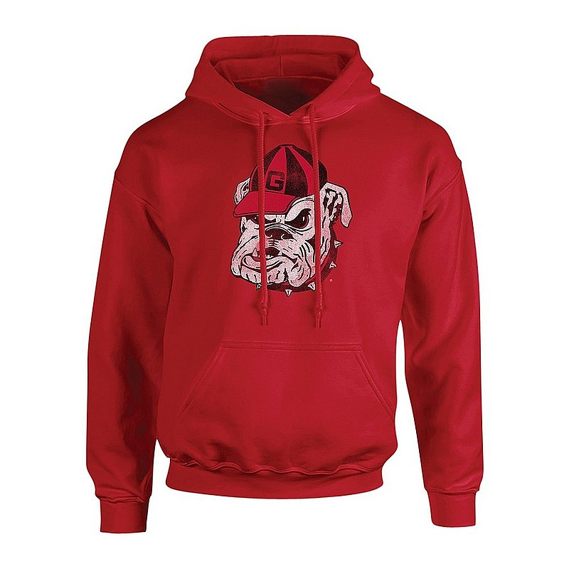 Georgia Bulldogs Hooded Sweatshirt Vintage Icon Red UGACHSC3116 APC03367283